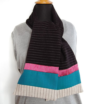 Echarpe en laine création textile Inés Cano
