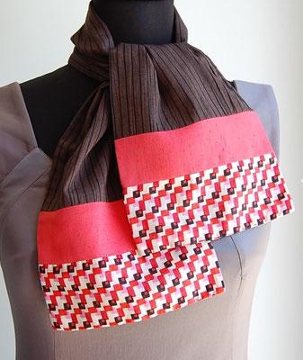 foulard en tissu création textile Ines Cano