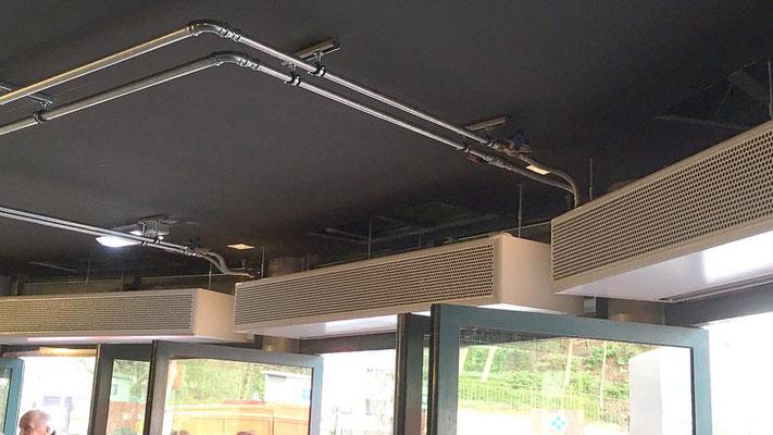 Installation rideaux d'air chaud VDV