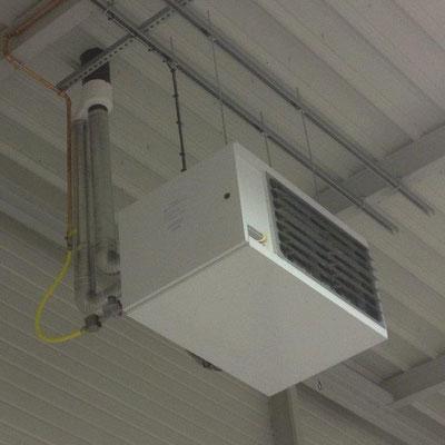 installation aérotherme gaz