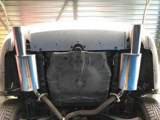 Subaru Legacy mit Sportauspuff.