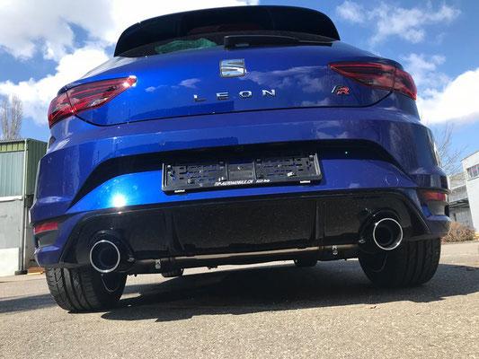 Seat Leon Aeropack Edition mit Sportauspuffanlage.