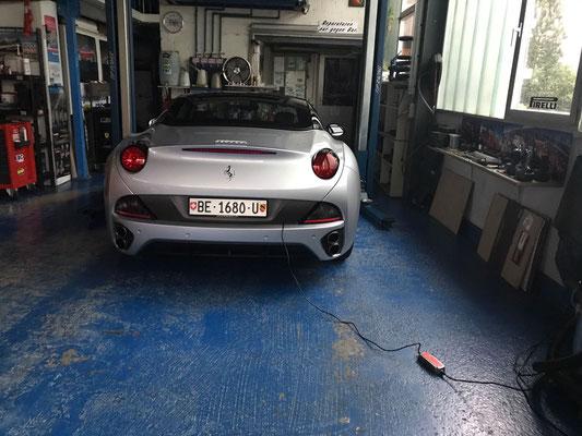 Ferrari California Bereitstellung zur Auslieferung