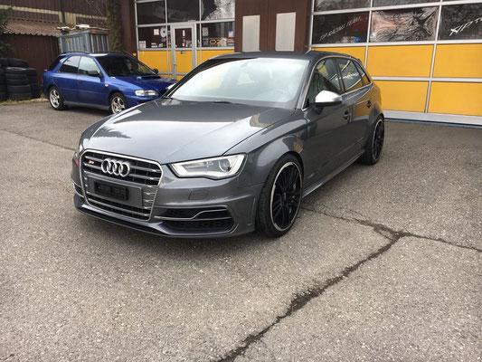 Audi S3 mit Gewindefahrwerk.