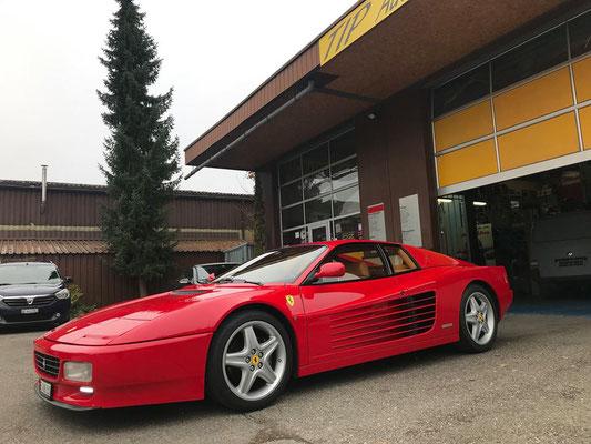 Ferrari 512 TR vorbereiten für Winterschlaf.