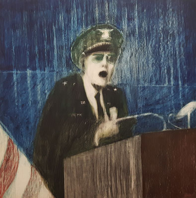 THE SPEECH (1964) - CRAYON ON BOARD