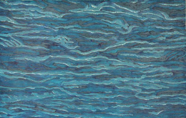 INTO THE BLUE (1967) - OIL ON CANVAS