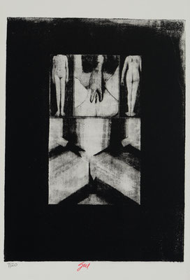HORRORS OF PEACE - GIRL, HAND AND CORNER (1965)  - ENGRAVING