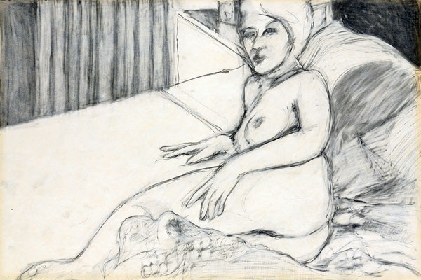 NUDE IN BED (1962) - PENCIL ON PAPER