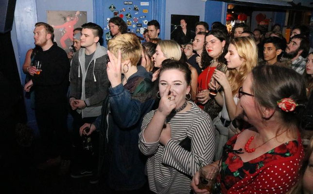 Crowd @ The Prince Albert, Brighton - 20/12/16. Credit: Andy Voakes.