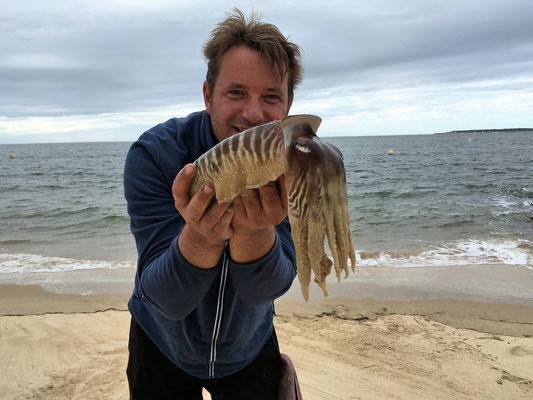 la pêche de la seiche sur Arcachon