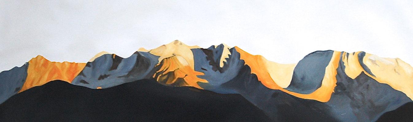 Ode à l'été, 2015, huile sur toile, 135 x 50 cm