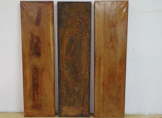 enchanted rush, tech. mixte sur toile et métal, 3 x 30 x 111 cm CHF 1'800.-
