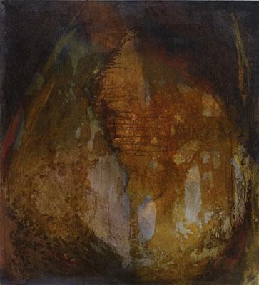 pas plus la solitude que l'oubli, tech. mixte sur toile, 100 x 110 cm CHF 1'800.-