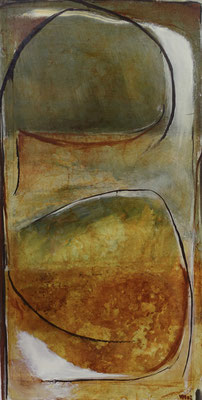 rusted Ganesha, tech. mixte sur toile, 50 x 100 cm CHF 950.-