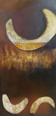 Katagena VII, tech. mixte sur toile, 50 x 100 cm CHF 950.-