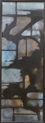 la fenêtre amère, techn. mixte sur toile, 110 x 40 cm CHF 850.-
