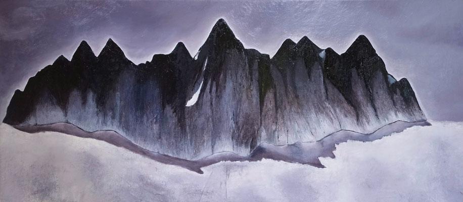 Sanctuary, 2015, huile sur toile, 135 x 60 cm CHF. 1'600.-