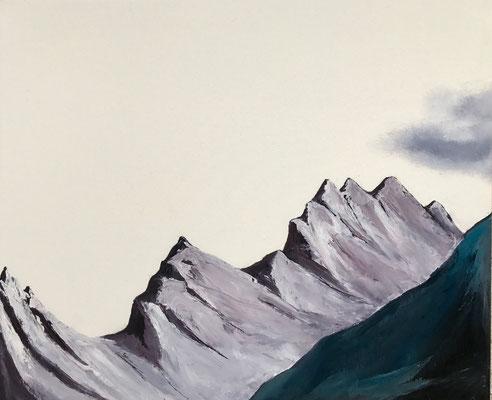 The ridge, 2017, huile sur toile, 50 x 60 cm CHF. 550.-