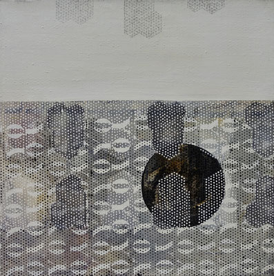 la hache, tech. mixte sur toile, 80 x 80 cm CHF 1'900.-