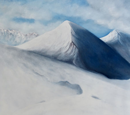 winter's symphony, 2018, huile sur toile 93 x 100 cm CHF. 2'000.-
