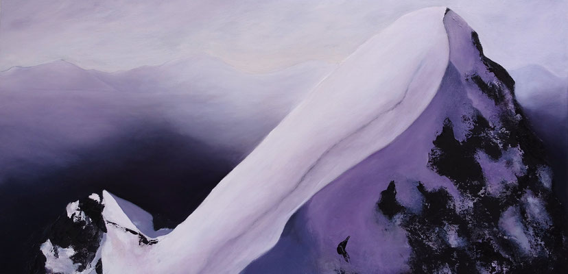 Dawn, 2016, huile sur toile, 100 x 50 cm