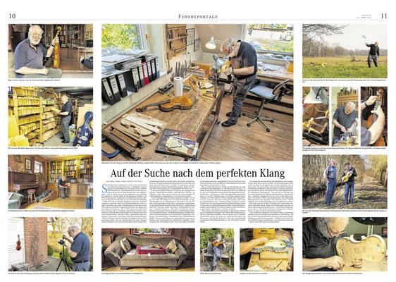 Auf der Suche nach dem perfekten Klang, Reportage (Fotos und Text), Weserkurier Bremen April 2017