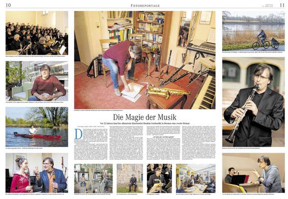 Die Magie der Musik, Reportage (Fotos und Text), Weserkurier Bremen April 2018