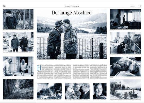 Der lange Abschied, Reportage (Fotos und Text), Weserkurier Bremen März 2017