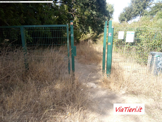 Ingresso all'Area cani