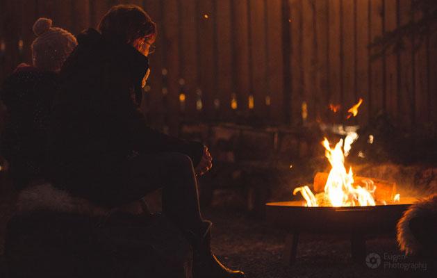 Winterliches Lagerfeuer bei SOG