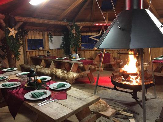 Grillhütte Witerlich Weihnachtsfeier SOG Basecamp www.kanu-neckar.de