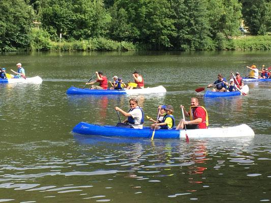 100 % kanu auf dem Neckar mit www.sports-outdoorguide.de Neckar Kanutour