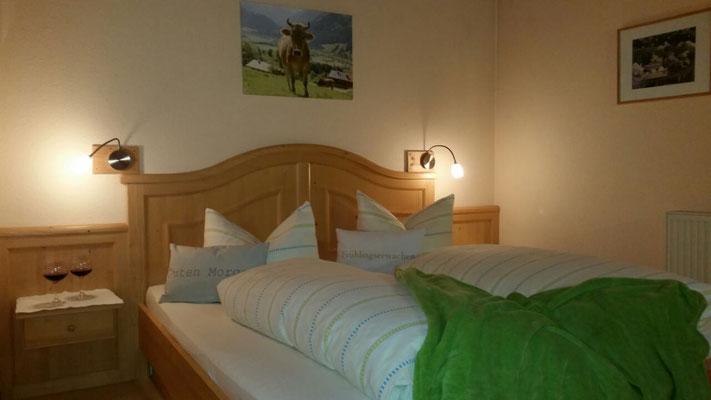 Wertach-Ferienwohnungen.de  Schlafzimmer Nr. 1 Ferienwohnung Sonnenschein
