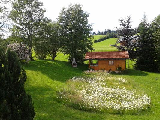 Wertach-Ferienwohnungen.de  Blick in den Garten Gästehaus Nattererhof