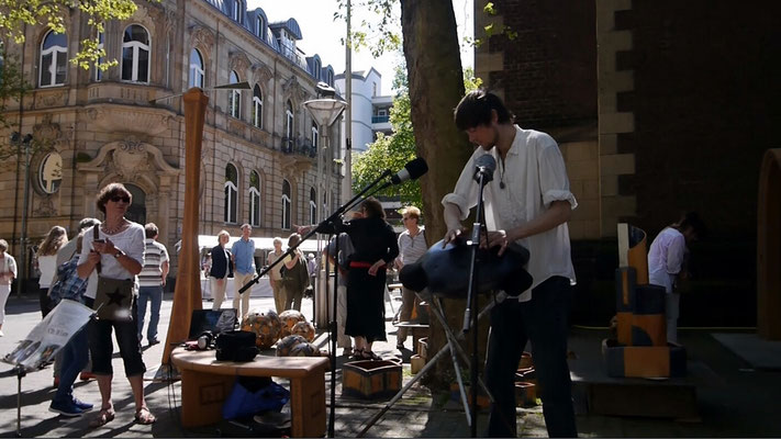 Auftritt beim Pottbäckermarkt in Krefeld