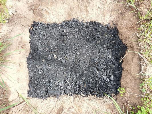 40 litres of medium crushed biochar in a Zai pit