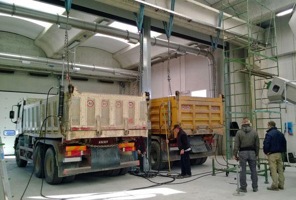 Collaudo trave capannone Rovereto Trento