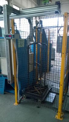 Sistema di pesatura su bobinatrice automatica