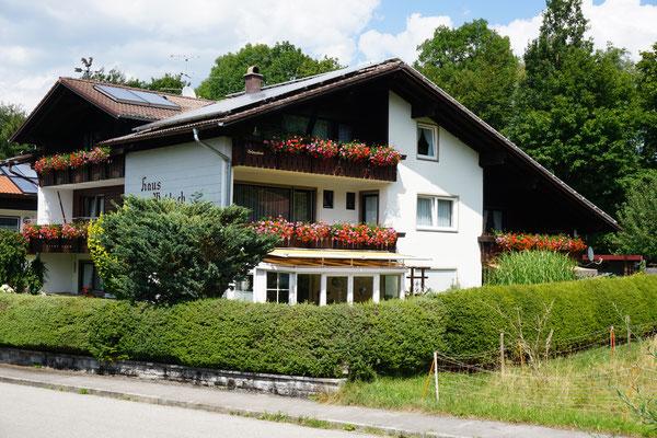 Haus Weidach Süd-Westansicht
