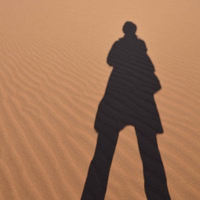 Schatten, mensch, sand, sahara, marokko, flowfly.photo
