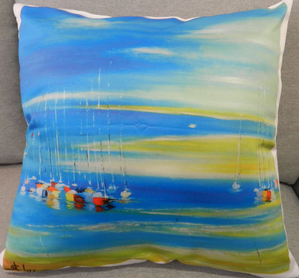 Coussin - Douceur Turquoise