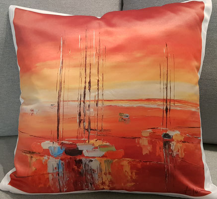 Coussin - L'Heure Rouge 24