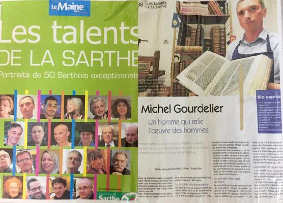 LES TALENTS DE LA SARTHE - MICHEL GOURDELIER RELIEUR