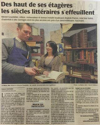 Droits réservés- MAINE LIBRE - ATELIER DE RELIURE GOURDELIER