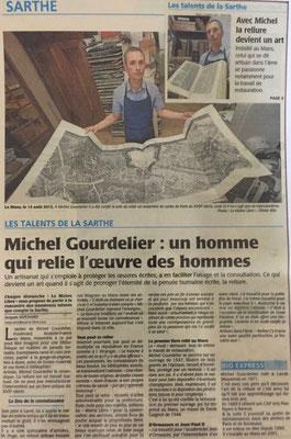 LE MAINE LIBRE - RELIURE GOURDELIER -Droits réservés