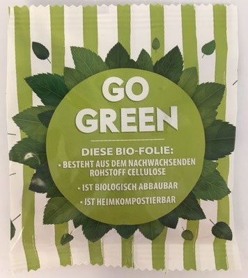 BIO-FOLIE aus Cellulose; ist heimkompostierbar!