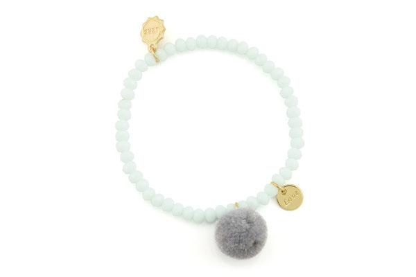 """Armband """"Single Pom Pom"""", light blue, 14€"""