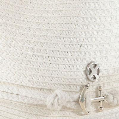 """Hut """"Sailingtrip"""", weiß, 100% Paper, Gr 57cm mit Band grössenverstellbar, 29,95€"""