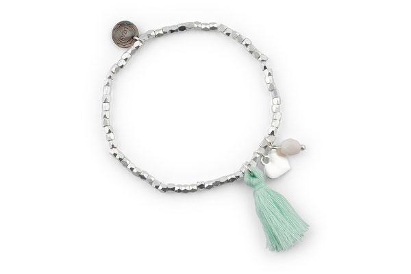 "Armband ""Herzilein"" mint, 14€"